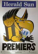 "2008 WEG "" MATCH DAY "" HAWTHORN HAWKS Grand Final PREMIERS Poster Herald Sun AFL"