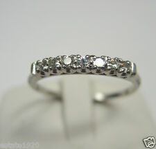 Vintage Art Deco Antique Diamond Wedding Band Platinum Ring Size 9.5 EGL USA