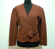 CULT VINTAGE '80 Giacca Donna Lana Woman Wool Jacket Sz.M - 44