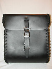 "Matous Leather Universal Sissy Bar / Luggage Bag  ""The Weekender""  Black BR315"