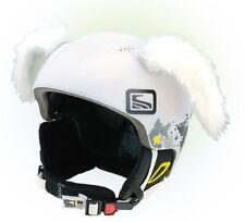 Hasenohren Helmohren für Skihelm Weiß Helmet Ears Helm Kaninchen Kaninchenohren