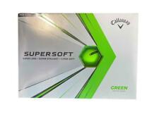 NEW Callaway Supersoft Green Matte Finish 1 Dozen Golf Balls