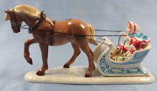 Pferd Schlittenfahrt porzellanfigur Porzellan figur hagen renaker limited editio