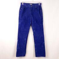 Rock & Republic Womens sz 30 x 32 Neil Blue Corduroy Straight Leg Pants