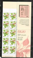 Palau 1988 22c Indigenous Flowers Booklet Of 10 Stamps #132a