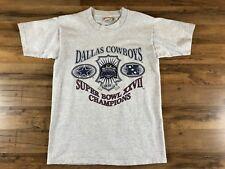 1993 Dallas Cowboys XXVII Super Bowl Champions Gray Heather Patch T-Shirt M 84837fc54