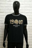 Maglia Uomo EVERLAST Shirt Man Polo Cotone Nero Grigio Elastico Taglia L Casual