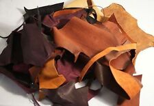 MULTI COLOURED LEATHER OFF CUTS/SCRAPS Perfect for any Craft Project 250g Pack