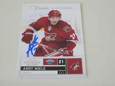 ANDY MIELE AUTOGRAPHED 2011-12 PANINI CALDER CONTENDERS CARD 002/999