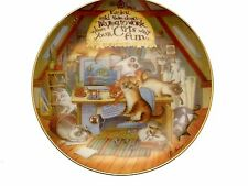 The Wonderful Wisdom of Cats Easier Said Than Done Cat Collector Plate GB48
