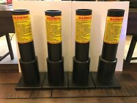 "4 - 12"" HDPE 1.91 I.D. Heavy Duty Firework Mortar Tubes With Bases- Excalibur"