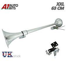 "Single Trumpet Air Horn 12 V 24 V 150db Car Truck Rv Train Boat Loud 25"" / 64cm"