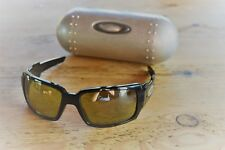Oakley Oil Drum. Black. YellowIridium Lenses (Good). Metal Vault Case.