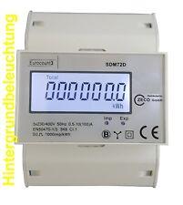 ***PORTOFREI*** Stromzähler Drehstromzähler S0 LCD 100A für DIN Hutschiene Zeco