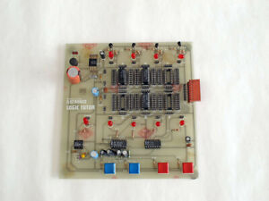 Practical Electronics Logic Tutor Circuit Board, IC tester, 1980s project board