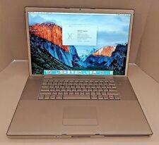 "Apple MacBook Pro A1229 2.4GHz 4GB 17"" NVIDIA 8600M 160GB HDD El Capitan"
