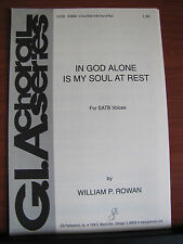 In God Alone Is My Soul At Rest - sheet music- SATB Vocal w/ Piano or A Cappella
