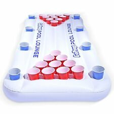 NEW GoPong Pool Lounge Beer Pong Inflatable with Social Floating White