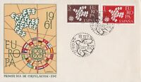 EU102) Spain 1961 - Europa Stamps On First Day Cover