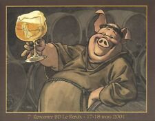 Ex-libris Offset  Moine et bière Festival BD du Roeulx