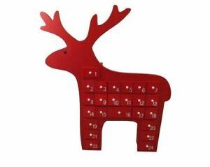 Gisela Graham Weihnachtsdekoration - Rot Scandi Rentier Adventskalender