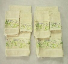 Croscill Ivory Floral Bath Towel Set 8 Piece