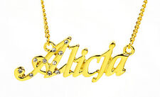 18K Gold Plated Necklace With Name ALICJA - Best Friend Name Plate Bridal Gifts