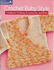 Crochet Baby Style Children's Clothing Instruction Patterns Bonnet Dress NEW