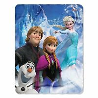 NEW Disney Frozen Elsa Anna Kristoff & Olaf Fleece Blanket Throw 46x60 Northwest