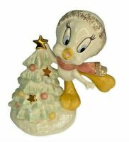Lenox Looney Tunes Christmas Tree Trimming Tweety Figurine 24kt Gold Trim