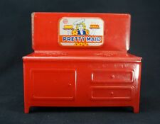 MARX 'Pretty Maid' Antique Toy Kitchen Stove. Vintage 1940s Red Pressed Metal