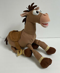 """NEW Disney Store Toy Story 17"""" Cowboy Woody Horse Doll Figure Plush w/Andy Name"""