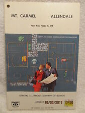 1966 Telephone Directory for Mt. Mount Carmel & Allendale IL Illinois Great Ads