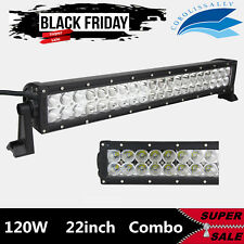 21INCH 120W CREE LED LIGHT BAR FLOOD SPOT DRIVING LAMP BOAT TRUCK 6000K 20/22''