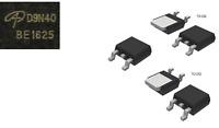5PCS AOD9N40  D9N40 N-CHANNEL MOSFET 400V  8A  TO-252