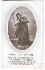 With Best Easter Wishes Verse PPC, Unposted but inscribed