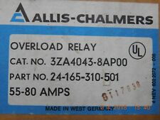 SIEMENS ALLIS CHALMERS 3ZA4043-8AP00  OVERLOAD RELAY 55-80 AMPS