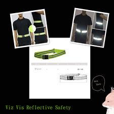 Hi Viz Vis Reflective Safety Waist Belt Band Cycling Motorbike Running