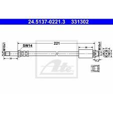 ORIGINAL ATE Bremsschlauch BMW 1er E81/E87 ua. Bj.04-11