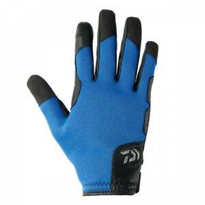 DAIWA DG-7207W Chloroprene Jigging Casting Cold Proof Glove M BLAU Japan