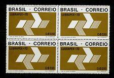 "Brazil Stamp:1970 ""Lubrapex 70"" Rio de Janeiro Brazil; Block of 4, MNH, CV=$36"