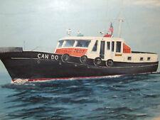 """Huge 48"""" Vintage Framed Signed Maritime Boat Ship Oil Painting Herb Hewitt 1978"""