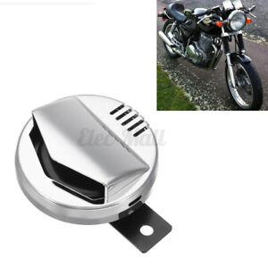 Universal 12V Moto Électrique Klaxon Super Fort 110db Chrome Café Racer Retro