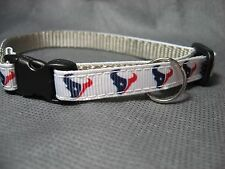 "Houston Texans 3/8"" Adj Pet Collar"