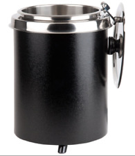 6 Qt Black Soup Kettle Warmer Commercial Chili Nacho Cheese 10 Can Restaurant