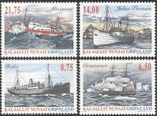 Greenland 2004 Ships/Boats/Sailing/Transport/Medical/Hospital 4v set (n43687)