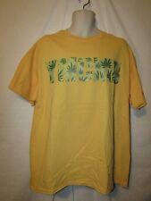 mens ymcmb t-shirt XL nwt medicinal plant yellow