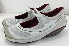 MBT Women 10.5US 7.5UK Fitness White Mary Janes Gym Shoes Walking Sneakers Kicks