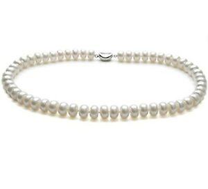 Natural White Freshwater Women's Pearl Necklace 18inch/46cm for Women