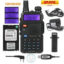 BaoFeng UV-5R TP ★8W★ 10km 2m/70cm UHF/VHF Hand Funkgerät Walkie Talkie + Kabel